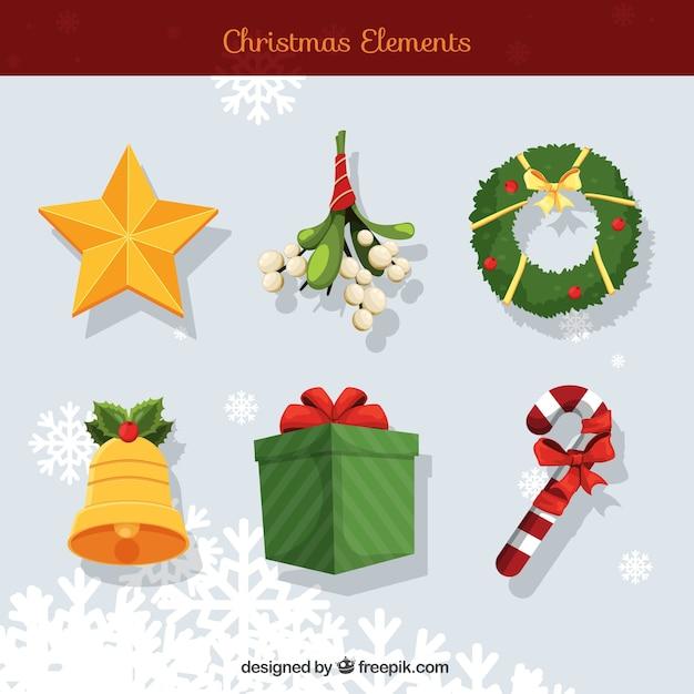 Varios elementos decorativos tradicionales de navidad - Decorativos de navidad ...