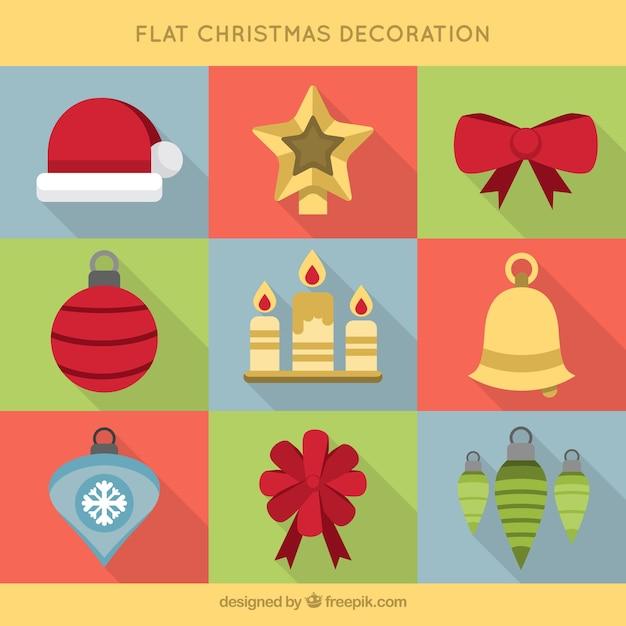 Varios objetos planos para la celebraci n de navidadvarios objetos planos para la celebraci n de - Objetos de navidad ...