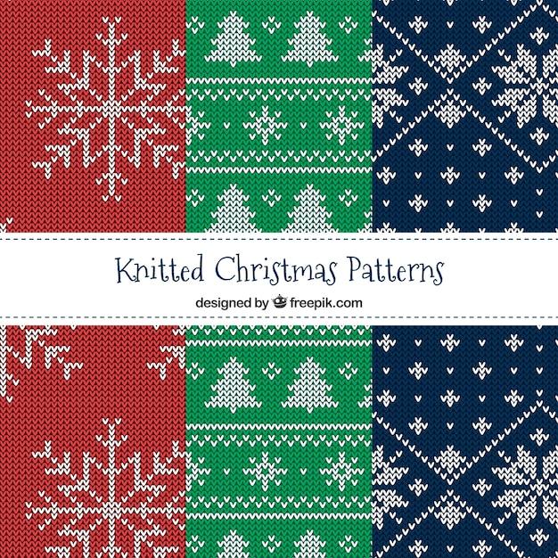 Varios patrones de navidad de punto | Descargar Vectores gratis