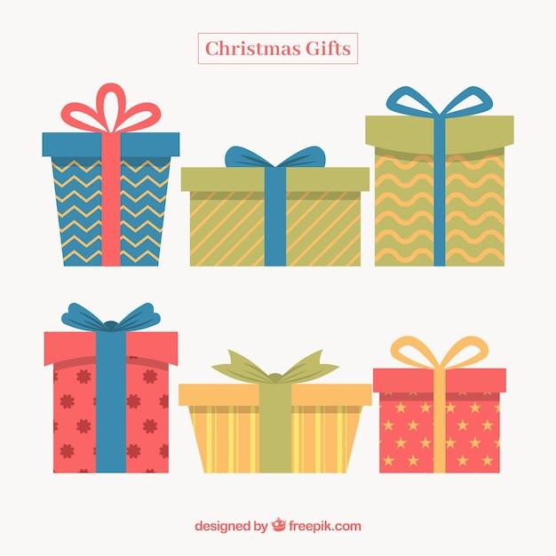 Varios regalos bonitos de navidad en dise o plano - Regalos bonitos para navidad ...