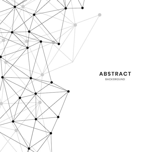 Vector abstracto blanco textura neural vector gratuito