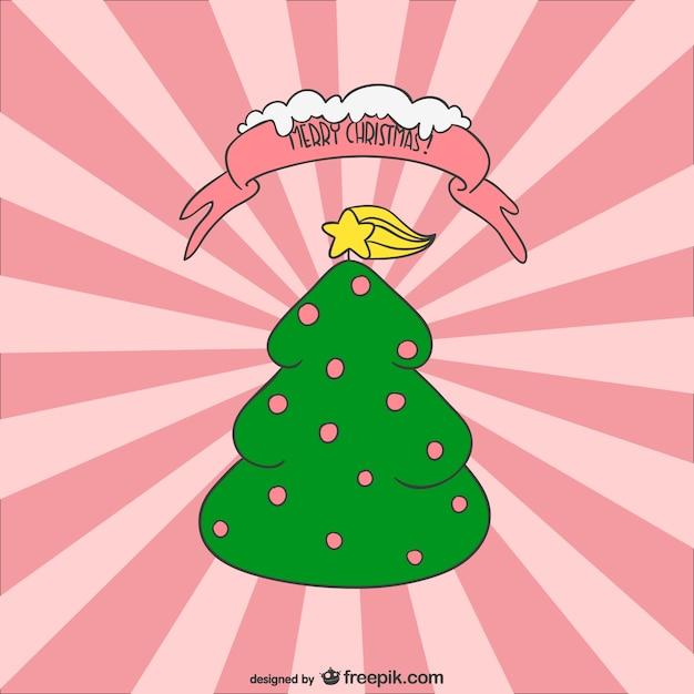 vector rbol de navidad de dibujos animados vector gratis