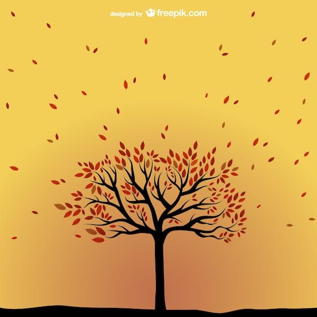 Vector rbol de oto o descargar vectores gratis - Descargar autumn leaves ...