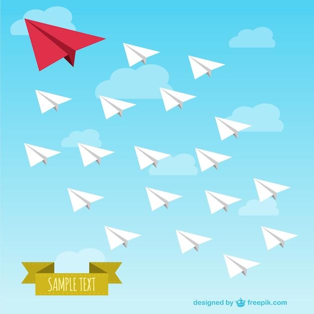 Vector de aviones de papel vector gratuito