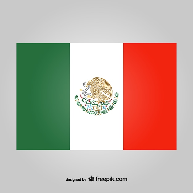 Vector bandera de méxico | Descargar Vectores gratis