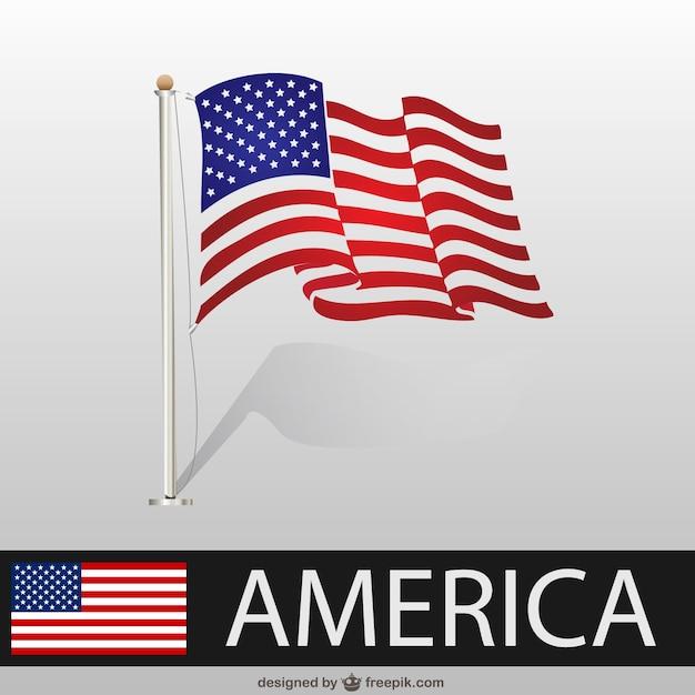 Vector Bandera De Estados Unidos Ondeando Descargar Vectores Gratis