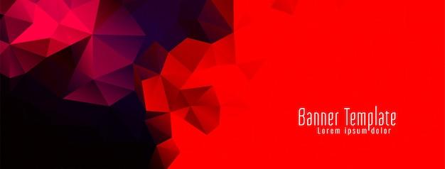 Vector de banner de diseño de polígono geométrico abstracto vector gratuito