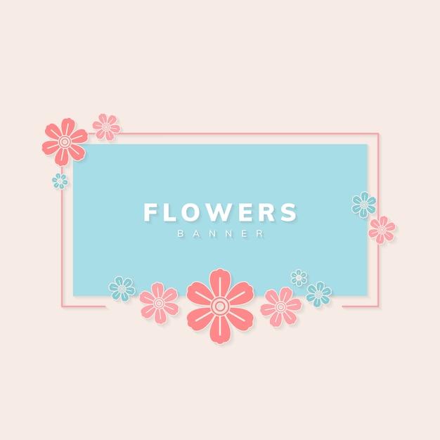 Vector de banner floral vector gratuito