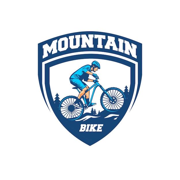 Vector de bicicleta de montaña Vector Premium