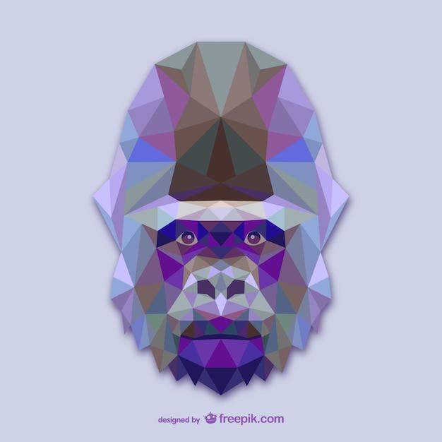 Vector cabeza de gorila vector gratuito