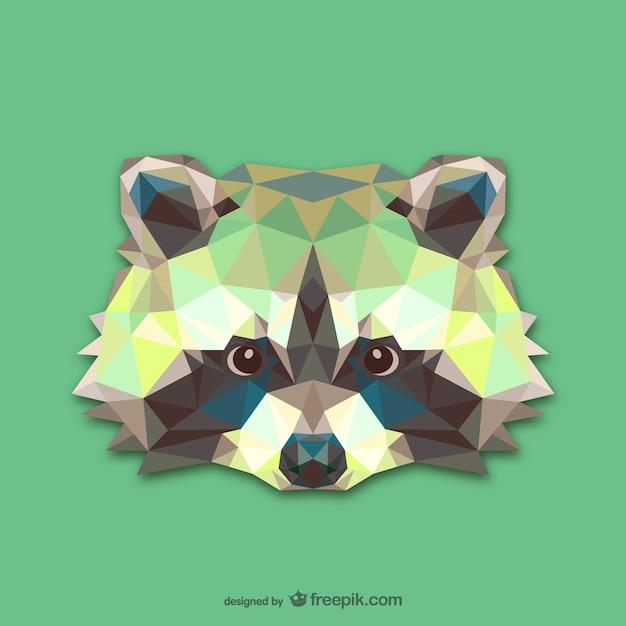 Vector cabeza de mapache vector gratuito
