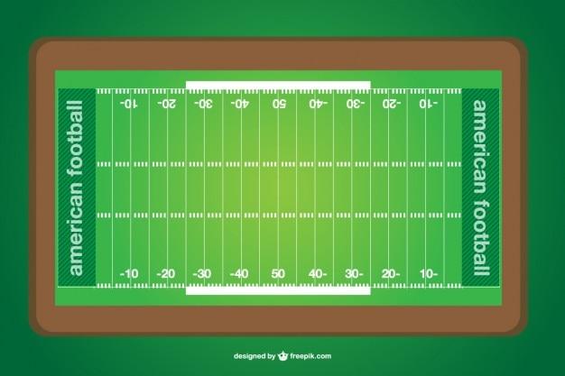 Vector campo de fútbol americano Vector Gratis