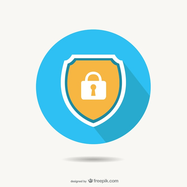 Vector de candado de seguridad vector gratuito