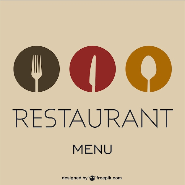 Vector carta de restaurante Vector Premium
