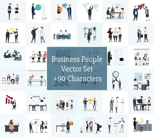 Vector colección de gente de negocios vector gratuito