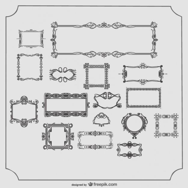 Vector colección de marcos antiguos   Descargar Vectores gratis