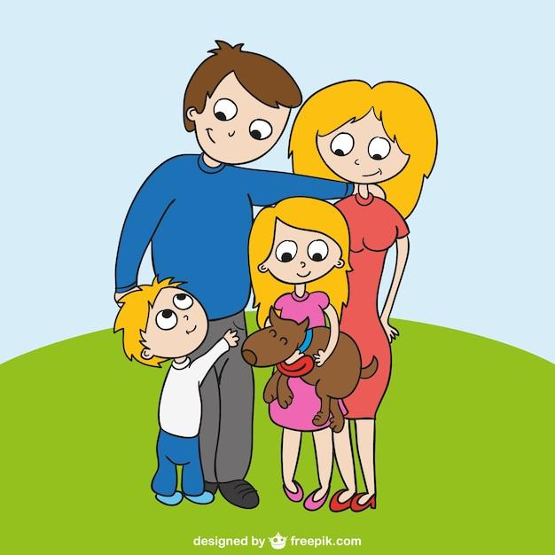 Vector con dibujo de familia descargar vectores gratis