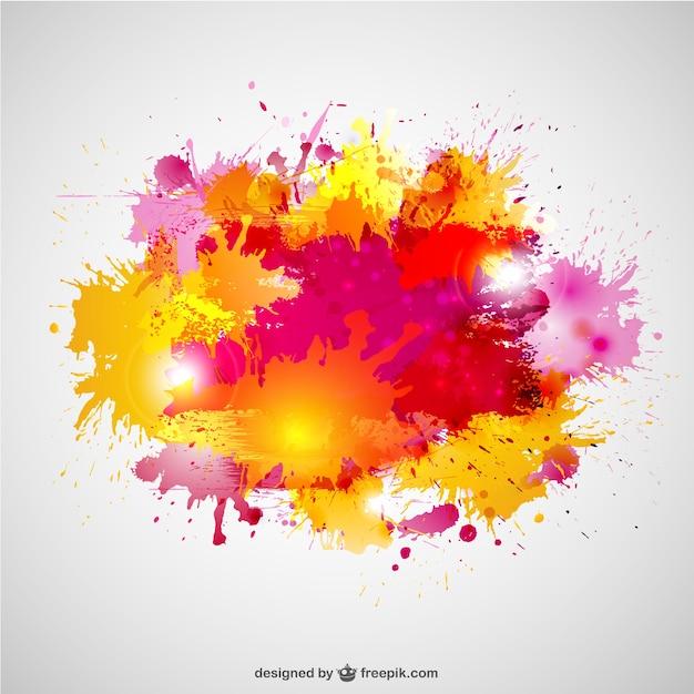 Vector con salpicaduras de pintura descargar vectores gratis - Salpicaduras de pintura ...