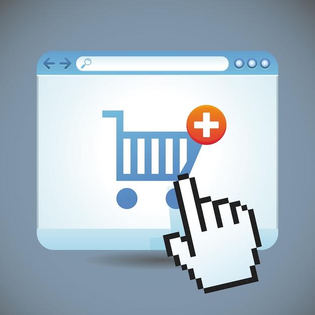 Vector concepto de compras por internet Vector Premium