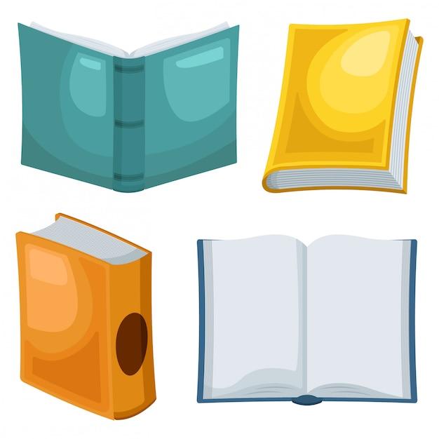 Vector conjunto de colección de libros Vector Premium