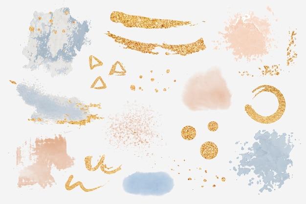 Vector de conjunto de elementos de diseño de salpicadura de pintura vector gratuito