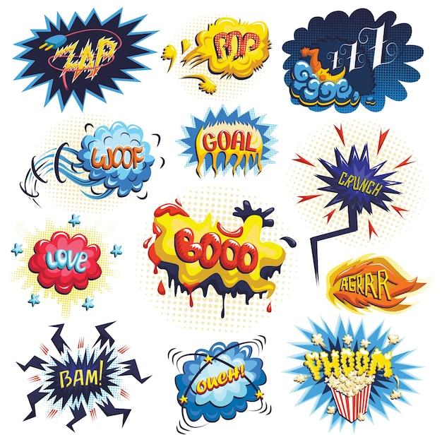 d6ec657bf1f53 Vector conjunto de iconos de cómics