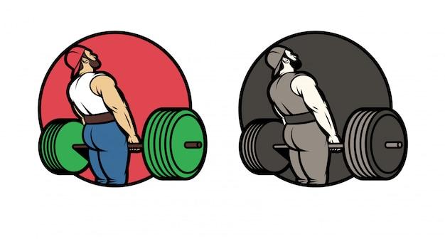 Vector conjunto de logotipos para el club deportivo. Vector Premium