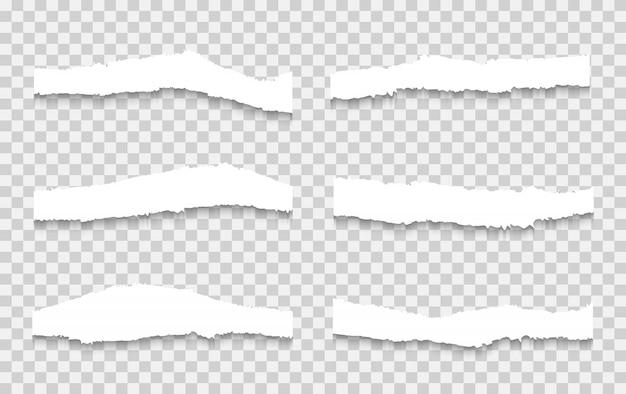 Vector de conjunto de papel rasgado, en capas. Vector Premium