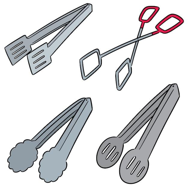 Vector conjunto de pinzas Vector Premium
