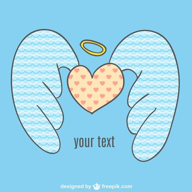 Vector Corazón Con Alas De ángel Descargar Vectores Gratis