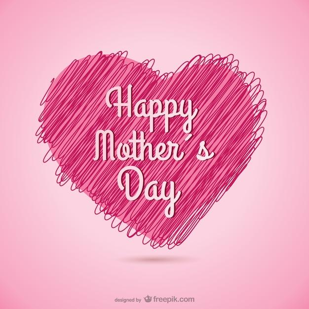 Vector con corazón para el día de la madre vector gratuito