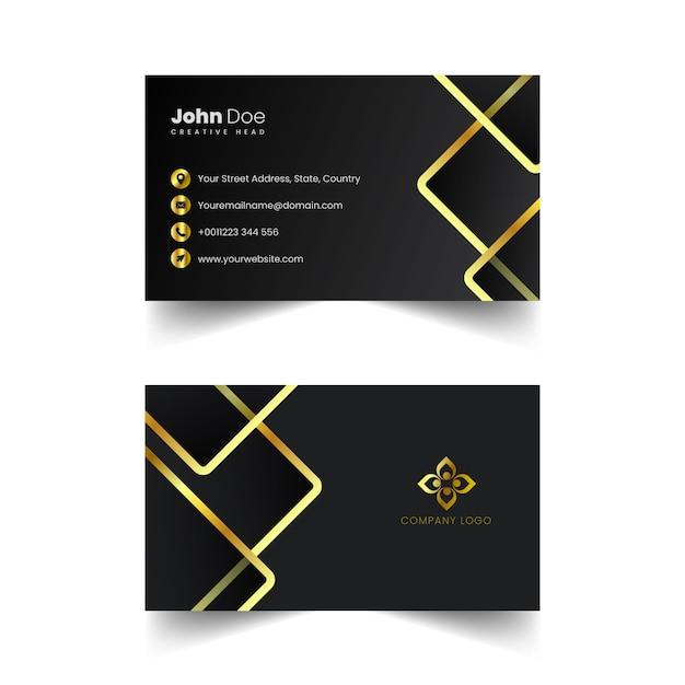 Vector creativo de la tarjeta de visita de oro Vector Premium