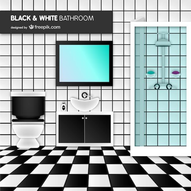 Vector de ba o blanco y negro descargar vectores gratis - Banos blanco y negro ...