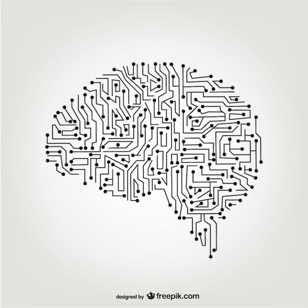 Vector de cerebro artificial Vector Gratis