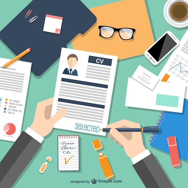 Vector de currículum seleccionado Vector Gratis