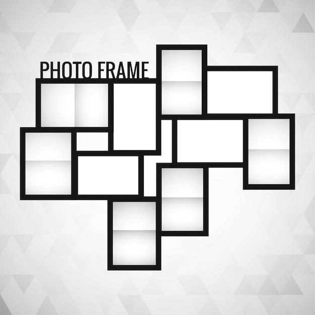 Vector de diseño de plantilla de marco de foto | Descargar Vectores ...