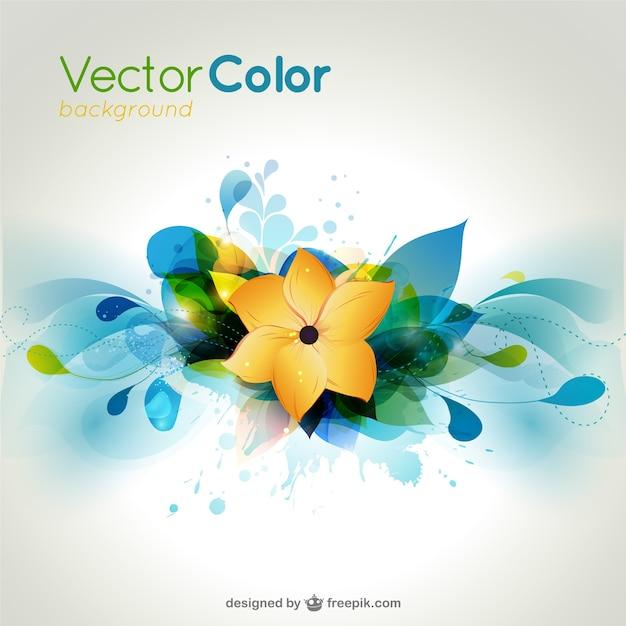 vector de flores de colores de fondo Vector Gratis