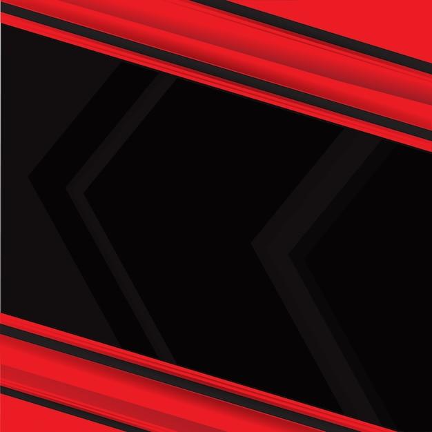 Vector De Fondo Abstracto Rojo Negro Contraste Rojo