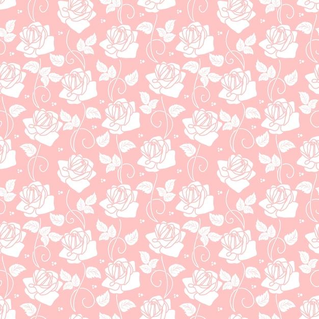 Vector De Fondo Sin Fisuras De La Flor. Textura Elegante
