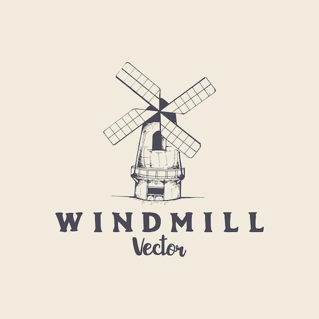 Vector de molino de viento | Descargar Vectores Premium