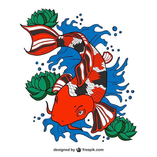 Vector de pez koi descargar vectores gratis for Imagenes de peces chinos