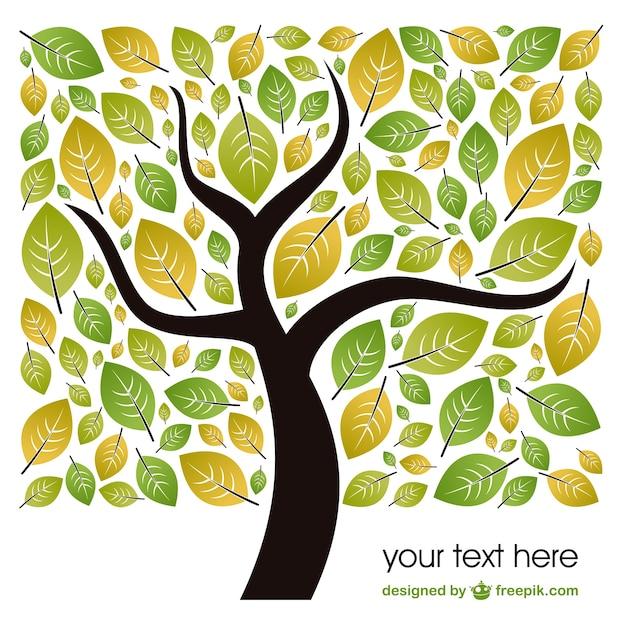 Vector de plantilla con hojas de árbol   Descargar Vectores gratis