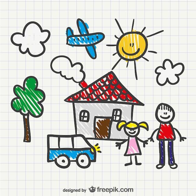 Vector dibujo de niño | Descargar Vectores gratis
