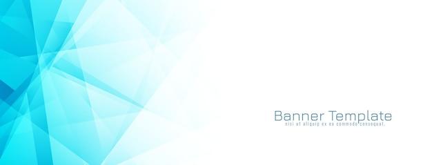 Vector de diseño de banner geométrico azul abstracto vector gratuito