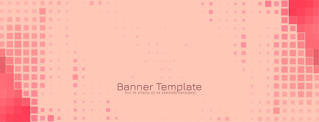Vector de diseño de banner de mosaico moderno abstracto vector gratuito