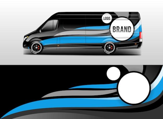 Vector de diseño de empresa de envoltura de coche Vector Premium