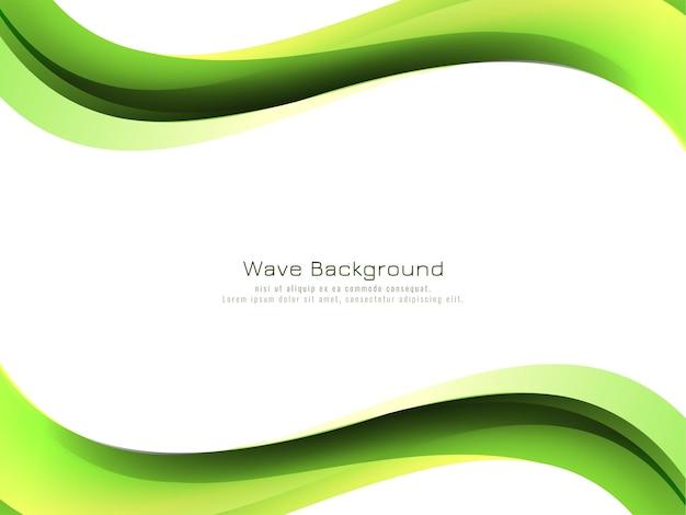 Vector de diseño de fondo de estilo de onda verde moderno vector gratuito