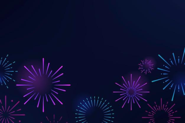 Vector de diseño de fondo de explosiones de fuegos artificiales vector gratuito