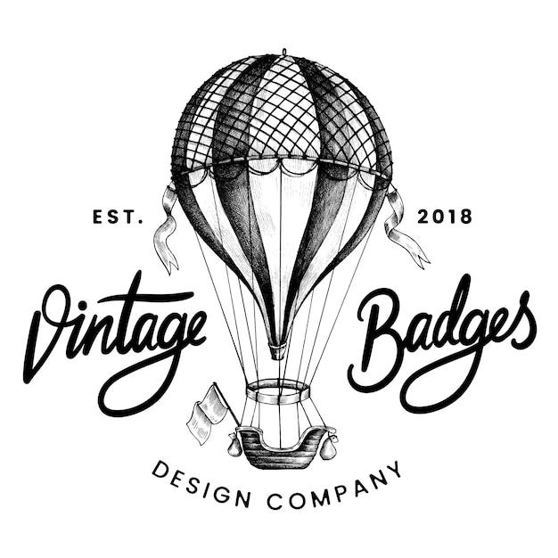 Vector de diseño de logo vintage globo vector gratuito