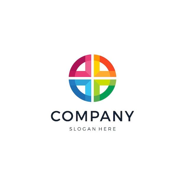 Vector de diseño de logotipo abstracto de grupo cruzado Vector Premium